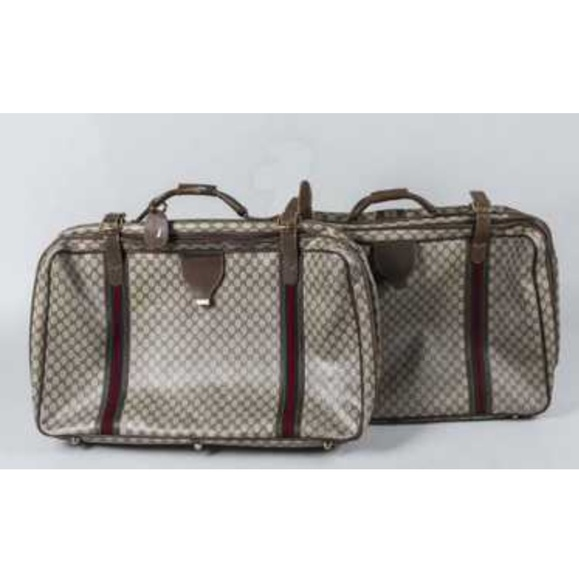 ff96e9b88b04 Gucci Bags | Vintage Monogram Travel Suitcase | Poshmark